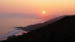 Sunset over Whitsand Bay